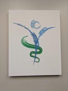 logo on canvas